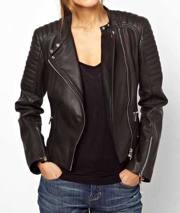 Veste en cuir a la mode 2015